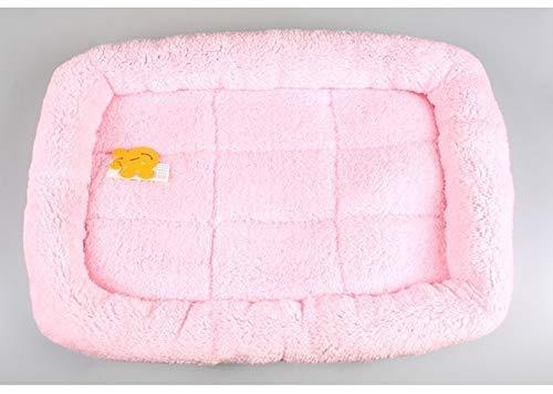 HONGTAI Caliente Suave Cama del Perro for los pequeños Animales de compañía Grande Grande Tumbona Sofás de Labrador Husky Cultivos Alimentos for Mascotas S M L XL XXL (Color : Pink, Size : M)