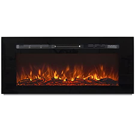Best Choice Products Wall Recessed Electric Fireplace Heater