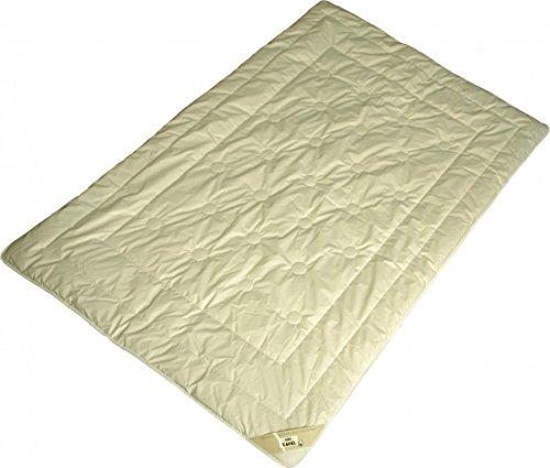 Steppdecke 155 x 200 / 1700 g - Garanta Warme Winter Duo-Bettdecke - Steppbett Kamelhaar Füllung KBA Bio Cotton Bezug