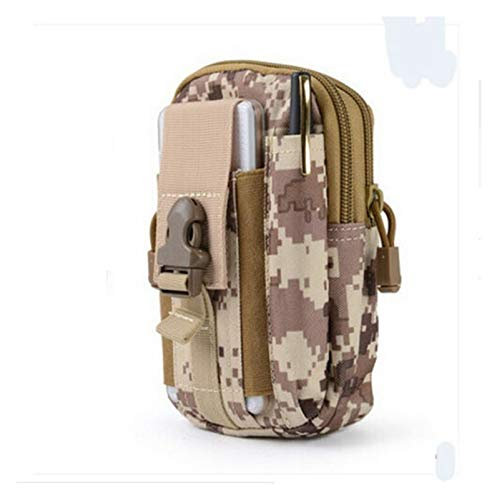 Outdoor Camo Print Tactical Molle Pouch Handbags Belt Waist Backpack Military School Bag Pack Outdoor Bags for Outdoor Hiking Fishing Bum Bag (Color : 7)