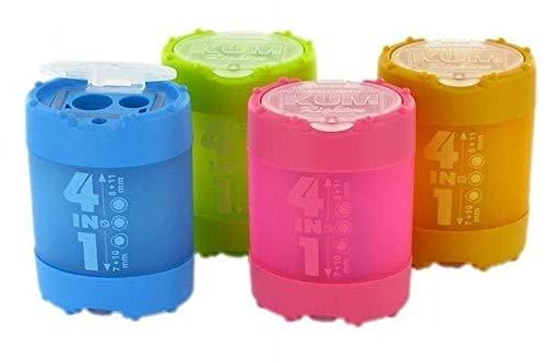 Temperówka KUM 4in1 z pojemnikiem mix kolorów
