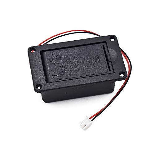 Goodplan Gitarren-Batteriefach Active Pickup 9V Batteriefach Batteriehalter mit Batteriefachdeckel Schwarz 1 Stck
