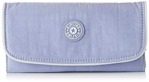 Kipling Damen SUPERMONEY Geldbörse, Violett (Active Lilac Bl), 20x10x3 cm