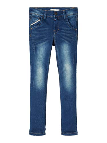 NAME IT Herren X-Slim Fit Jeans Super Stretch 128Medium Blue Denim
