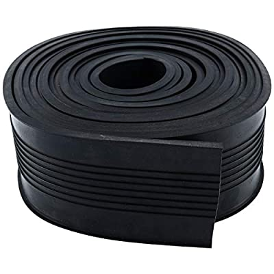 "Homend Garage Door Bottom Weather Stripping Rubber Seal Strip Replacement, 5/16"" T Ends, 3 3/4"" Width X 20 Feet Lenth (Black)"