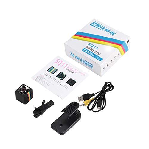 Anjuley SQ11 - Mini telecamera 1080P sensore Cam telecamera a visione notturna micro video DVR DV, registratore di movimento