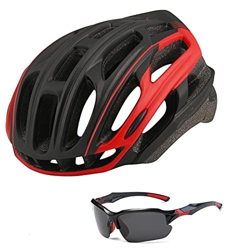JTXQSI Casco de Ciclismo Moldeado integralmente con la luz Trasera Ultralight Road Bike Riding Helmets Ajustable Bicycle Motocicleta Deportes Casco (Color : Green)