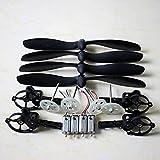 Accesorios para drones para motores, hélice, eje principal, motor de engranajes, base para JJRC H16 Yizhan Tarantula X6 Rc, cuadricóptero, repuestos para drones (color: juego de cuchillas negras)