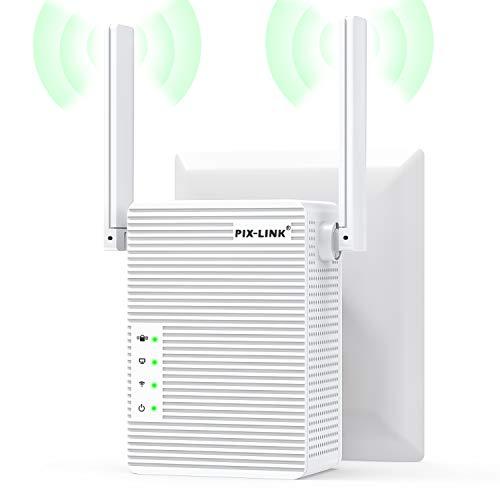 FineLife WLAN Repeater, WLAN Verstärker 300Mbit/s 2,4GHz WiFi Range Extender, Fast-Ethernet Port, WPS Taste, EU Stecker, Mini WLAN Verstaerker Receiver Kompatibel mit Allen WLAN Geräte