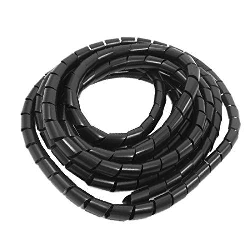 X-DREE 14mm x 5M Envoltura en espiral Envoltura Banda Cable Cable Cremallera...