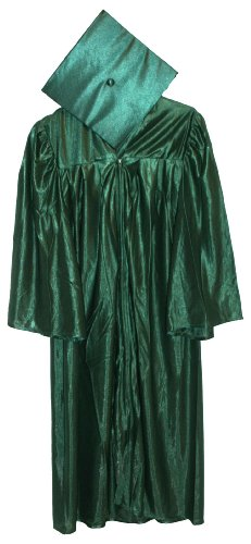 Economy Cap and Gown Shiny Finish Cap and Gown 5'9-5'11 Hunter