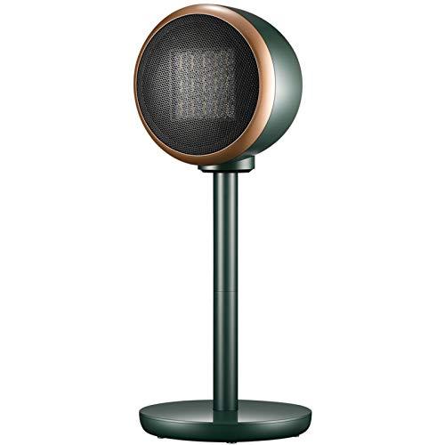 LKHG Calefactor Cerámico 2000W con Mando A Distancia, Calentador Ventilador, 90°Oscilación Posible,3 Configuraciones De Calor, Termostato Ajustable Y Corte De Seguridad,Verde