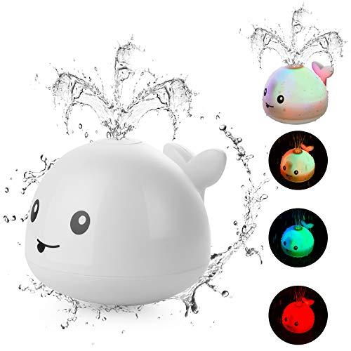 HellDoler Juguete de Baño Juguetes de Baño para Bebés Juguete con Rociador de Agua Automático con Luz LED Juguete con Chorro de Agua, Bañera, Ducha, Piscina