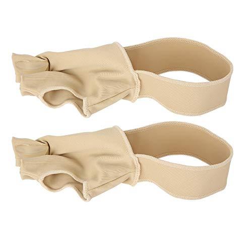 Corrector de valgo, separador de dedos, absorción de sudor 1 par para corrección de pulgar hallux valgus(S (35.39 yards))