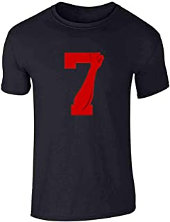 Power 7 Logo Red for Justice Fist Short Sleeve T-Shirt