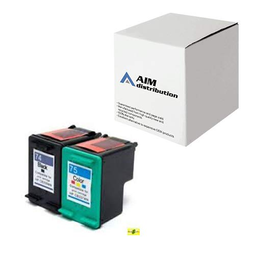 AIM Compatible Replacement for HP NO. 74/75 Inkjet Combo Pack (Black/Color) (CC659FN) - Generic