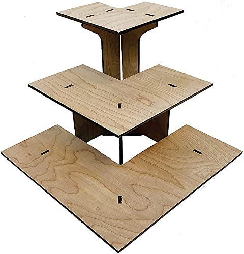 table display for vendors Torched 3-Tier Retail Table Display Corner Stand with Shelves for Products - Portable   3 Step Corner Display Rack for Retail Table Top, Counter Top, Craft Shows, Farmers Market, Tradeshows