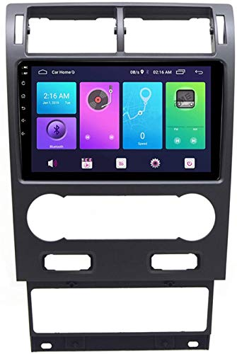 Coche GPS Navegación Auto Estéreo De 9 Pulgadas para Ford Mondeo 2004-2007 Radio Android BT Llamada De Manos Libres,4core 4g WiFi:1+32gb