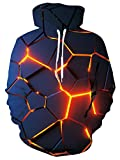 TUONROAD Hoodie Homme 3D Sweatshirts Manches Longues Sweat à Capuche Confortable Casual Pullover avec Poches M