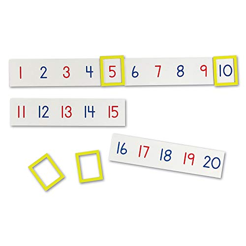 Learning Resources Magnetic Number Line 1-100, 20 Magnets, Classroom Accessories, Teacher Aids, Sets of 5 Magnets, Ages 3+ (LER5194)
