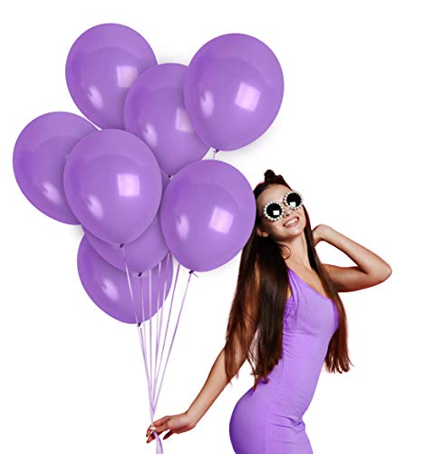 Lavender Balloons - Lilac Balloons 12 Inch - Pastel Matte Purple Balloons 36 Pack for Winter Wonderland for Baby Shower Birthday Party Wedding Engagement Graduation Bachelorette Party Decorations