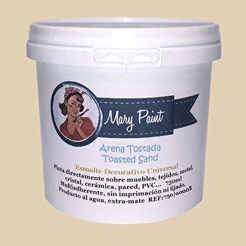 Mary Paint | Pintura para muebles efecto Chalk Paint, Arena Tostada - 750ml