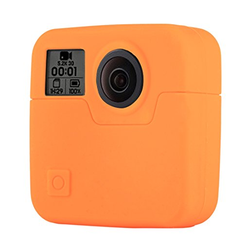 PULUZ Silicone Rubber Protective Housing Case for GoPro Fusion (Orange)