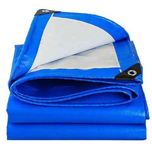 RDJSHOP Lona De Lona Azul Resistente Ojales Reforzados Lona De PE Gruesa Lona Impermeable Lona De Cubierta Premium Lona para Acampar Al Aire Libre-2x3m (Tamaño : 3x3m)