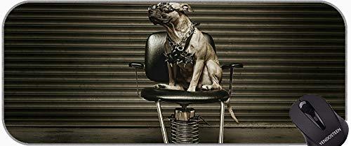 Großes Mousepad mit Premium-Strukturiertem Tuch, Hund Chihuahua-Welpen Pitbull-Hund Große Gaming-Matte