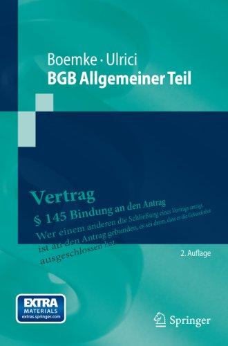 BGB Allgemeiner Teil (Springer-Lehrbuch)