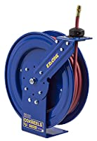 Coxreels EZ-P-LP-135 Safety Series Spring Rewind Hose Reel for air/water: 1/4 I.D., 35' hose, 300 PSI by Coxreels