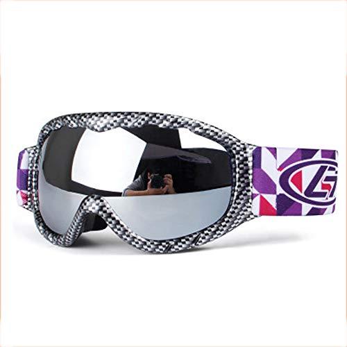 AUEDC Skibrille für Kinder, Ski Snowboard Goggles Doppel-Objektiv Anti-Fog UV-Schutz Winter-Schneesport Snowboardbrillen für Kinder im Freien Sport,D