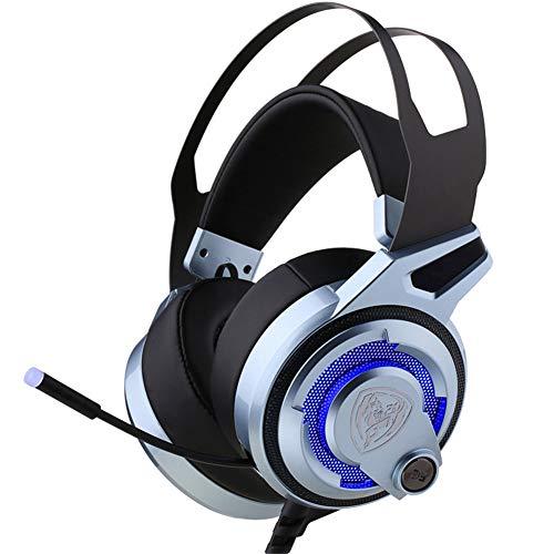 Gaming Headset Para PC Strong Bass Virtual Sonido 7.1 - Auriculares USB Con Micrófono Con Cancelación De Ruido Luces RGB Plug An Play Para Computadoras Portátiles