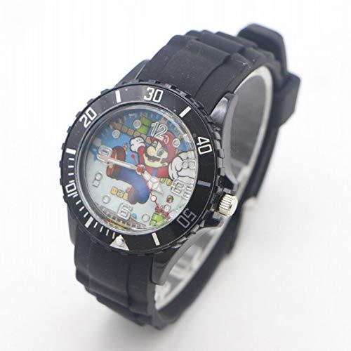 Mario Figura Horologe Nueva Llegada Mario Figura Silicona Cuarzo Niños Reloj Deportes Moda Niño Estudiantes Niños Relogio KOL Saati Reloj