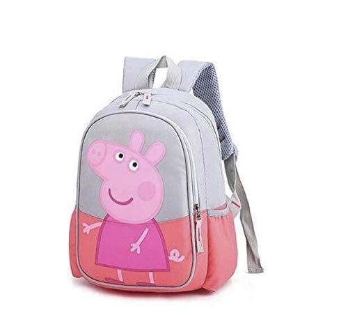 Peppa Wutz Rucksack Kindergarten Kinderrucksack George Marine Rosa Lila Kita Ausflug (Pink)