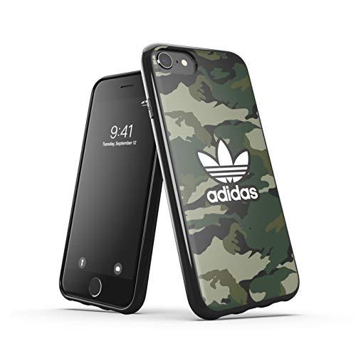 Adidas, custodia protettiva per iPhone 6/6S/7/8/iPhone SE2, con bordi rialzati, colore nero