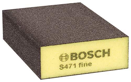 Bosch Professional Schleifschwamm S471 Fein (Holz, Kunstoff und Metall, 69 x 97 x 26 mm, Zubehör Handschleifen)