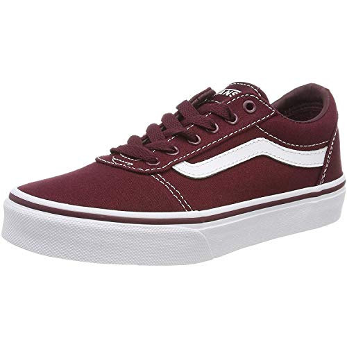 Vans Ward Canvas Sneaker Unisex - Bambini, Rosso (Canvas) Port Royale/White 8j7), 38.5 EU