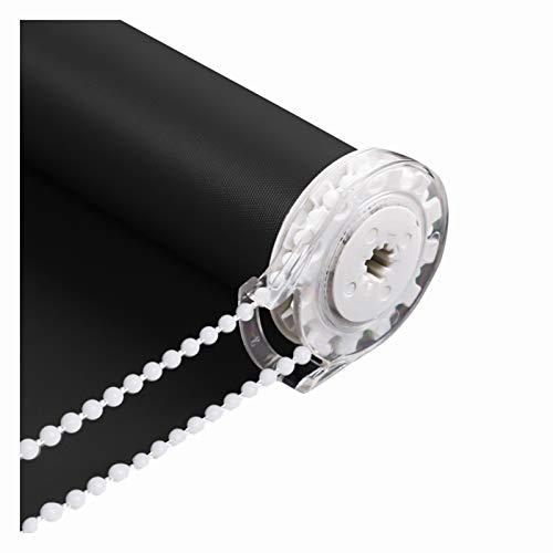 LIQICAI Estor Enrollable Ventana Cortina, Aislamiento Térmico Protección De La Privacidad Cortinas Estores Enrollables Opacas, Tamaño Personalizado (Color : Black-A, Size : 100cmX160cm)