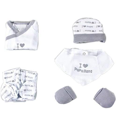 Duffi Baby Conjunto para bebé Recien Nacido/Set Regalo bebé (Gris)