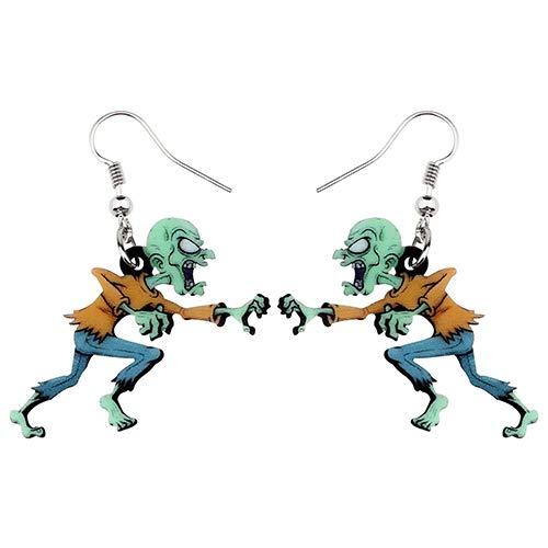 NOBRAND Pendientes De Mujer Pendientes De Zombie Enojado De Dibujos Animados De Acrílico Drop Dangle Fashion Festival Jewelry