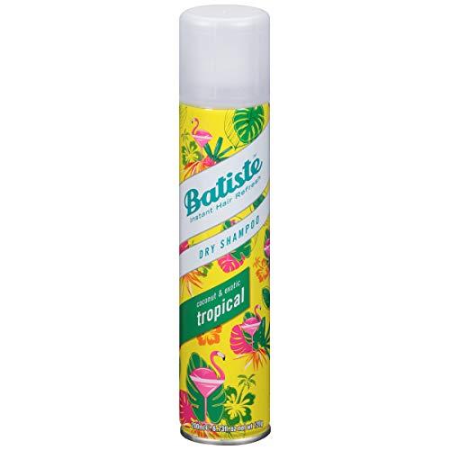 Batiste Tropical Droogshampoo, voor Fris en Schoon Haar - met Fruitige & Exotische Geur - Sulfaatvrij en Vegan, 200ml Spray