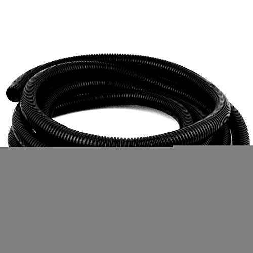 Aexit 25mm x Shaft Collars 22mm Flexible Bellow Pipe Wire Protect Corrugated Heat Shrinkable Shaft Collars Tube 3.8Meter