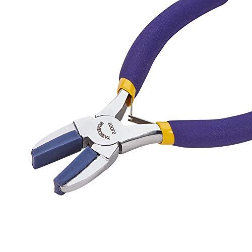 BENECREAT Double Nylon Jaw Flachzange Mini Stahldrahtformzange für das Schmuckhandwerk zur Herstellung von Hobbyprojekten