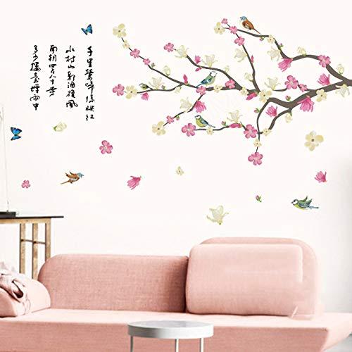 Calligrafia in stile cinese, antichi, adesivi classici, autoadesivi, aule guzheng, cultura decorativa, adesivi murali, layout asilo nido, adesivi, Fiore di prugno, Oversize