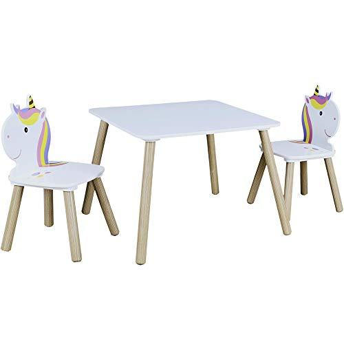 Table et 2 chaises enfant Licorne Lily