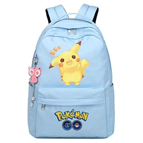 Tutui Pokemon Pikachu Double Shoulder Backpack Pokemon Pikachu Backpack Pokemon Pokémon School Bag Pokemon Backpack Anime Girl