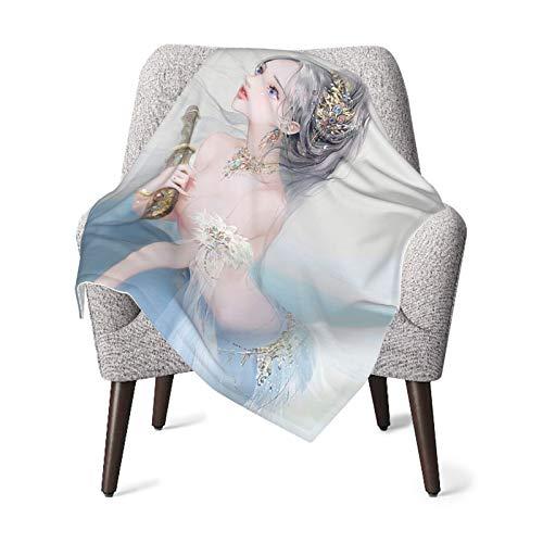 VVSADEB Manta de bebé con diseño de princesa de sirena, manta de bebé, manta de regalo suave, cálida para recién nacido, unisex, talla única (76 x 100 cm)