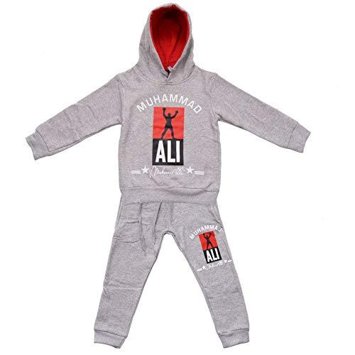 Kinder Trainingsanzug Zweiteiler für Jungen Box Legende Jogginganzug Ali, Farben:Grau, Größe Kinder:152