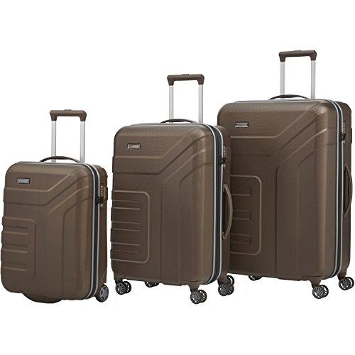 Travelite Set de bagage 'Vector' 3 pcs marron Koffer-Set, 77 cm, 110 liters, Braun (Marron)
